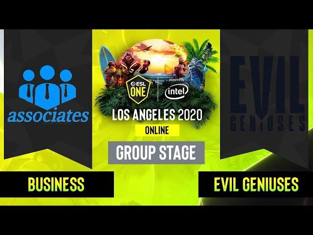 Dota2 -  Business associates  vs. Evil Geniuses - Game 2 - Group Stage - NA - ESL One Los Angeles