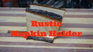 Rustic live edge Napkin Holder, Littlewierdshop