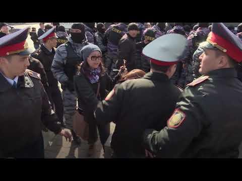 Десятки человек задержаны в Казахстане