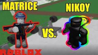 Matrice vs Nikoytkiller 🚓 Roblox Prison Life 1v1 Battle