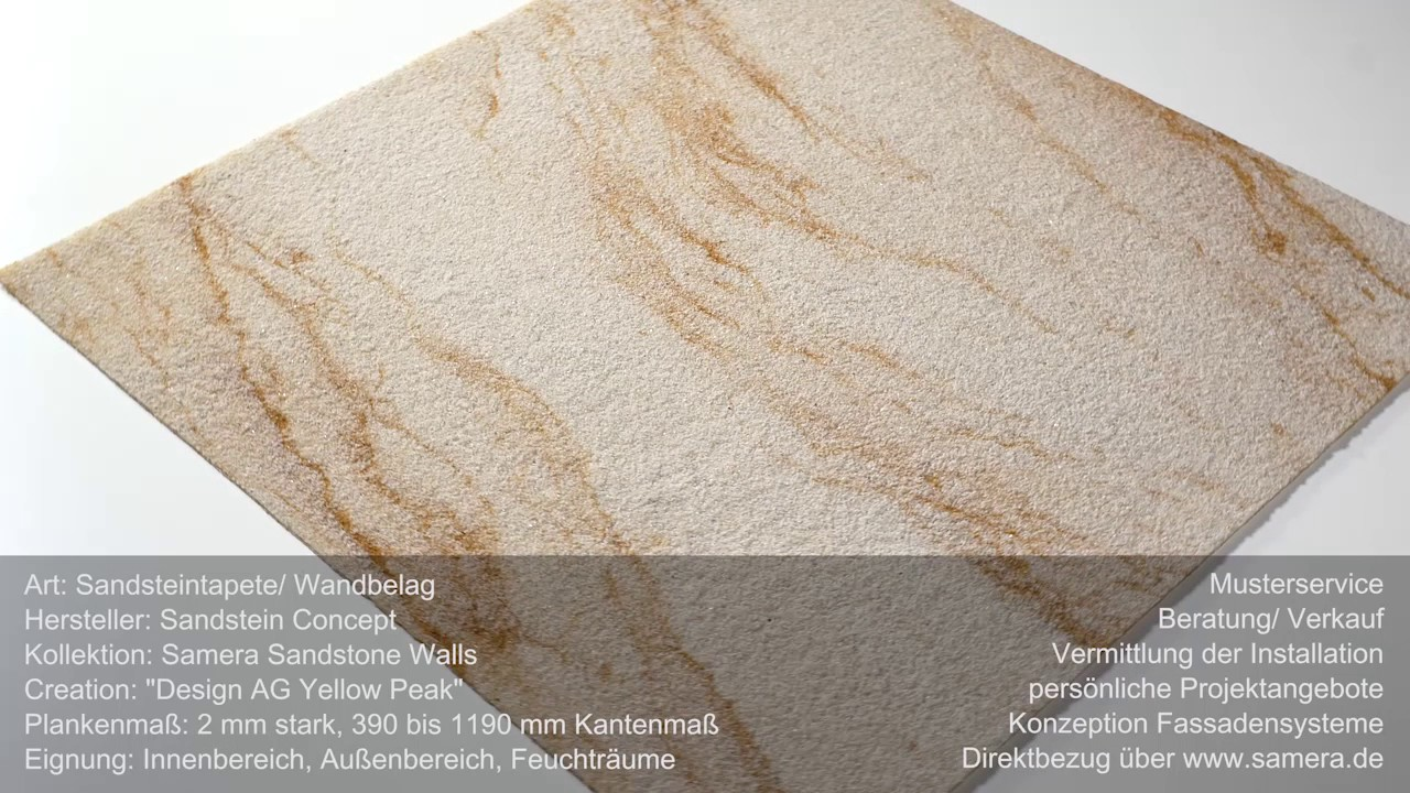 Samera Flexibler Sandstein Als Sandsteintapete Wandbelag Design