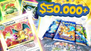 $50,000+ Pokemon Box - Pulling 1ST EDITION Venusaur, CHARIZARD, & Blastoise ALL IN 1 Box !!!