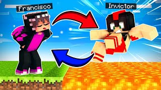 ¡RETO de INTERCAMBIO De La MUERTE! 😂💀 Minecraft DEATH SWAP Con INVICTOR