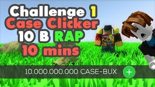 [Roblox] Case Clicker: GETTING 10.000.000.000 IN 10 MINUTES (Challenge 1)