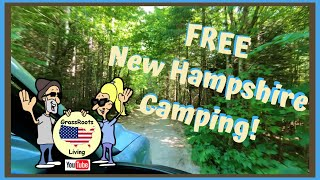 FREE Camping in Nęw Hampshire/ Moose Scoops/ Quechee Gorge/ FREE Toy Museum/ Elbow Pond/ RV Life