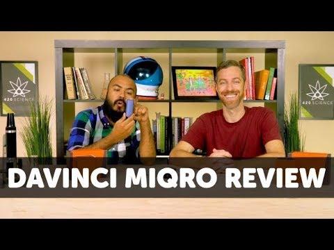 Vape session with the DaVinci Miqro Pocket Vaporizer