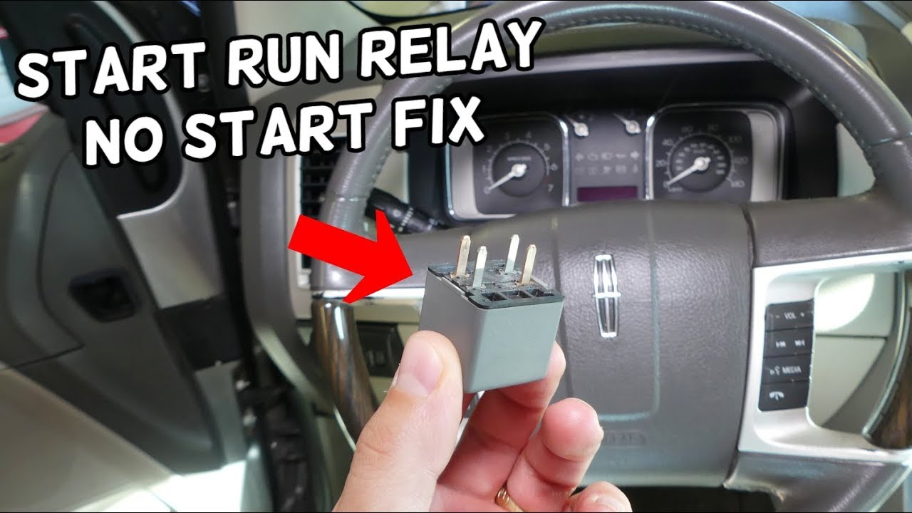 Lincoln Mkx No Crank No Start Start Run Relay Location Replacement Youtube
