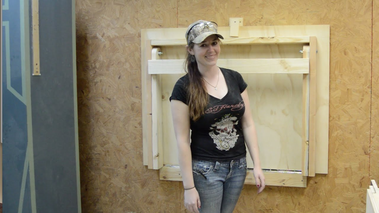 Diy Fold Down Workbench Youtube