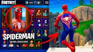 CONSIGO LA SKIN DE *SPIDERMAN* EN FORTNITE ! (REAL) - ElChurches