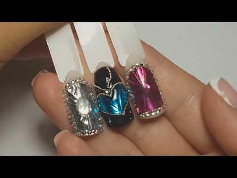 Листики на ногтях фото