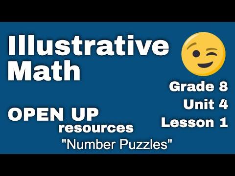 "8th Grade Illustrative Mathematics: Unit 4, Lesson 1 ""Number Puzzles"" thumbnail"