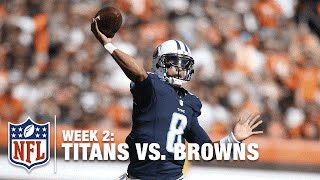 Marcus Mariota Fires a TD Pass on 4th Down | Titans vs. Browns | NFL