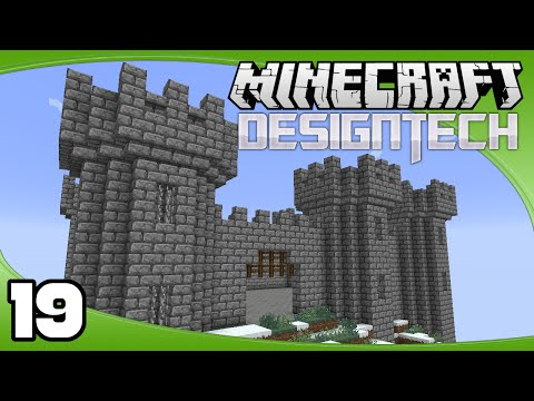 DesignTech - Ep. 19: Castle Walls | Minecraft Custom Modpack Let's Play
