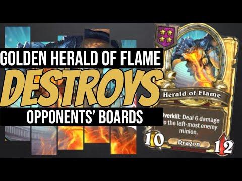 BIG GOLDEN HERALD = DEMOLISH THE BOARD - Hearthstone Battlegrounds