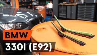 Noskatieties video ceļvedi par to, kā nomainīt Stikla tīrītāja slotiņa uz BMW 3 Coupe (E92)