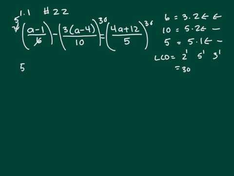 1.1 #22 Collage Algebra
