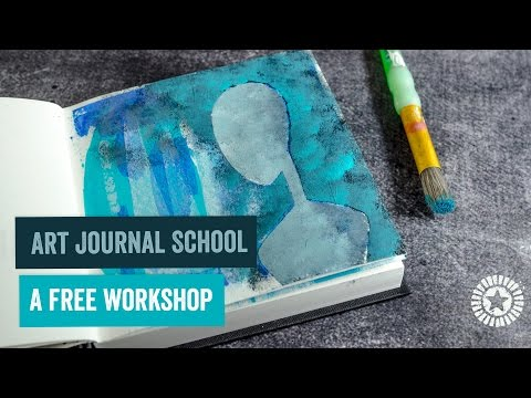 Art Journal School - Creating a super simple Background in your Art Journal