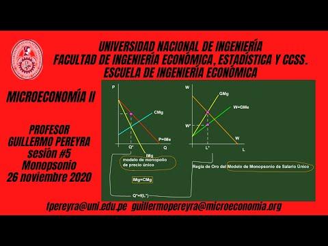 Microeconomía II Monopolio natural y monopsonio