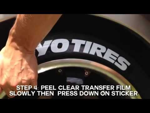 Toyo Tires Peel & Stick Tire Stickers - DIY Application Guide