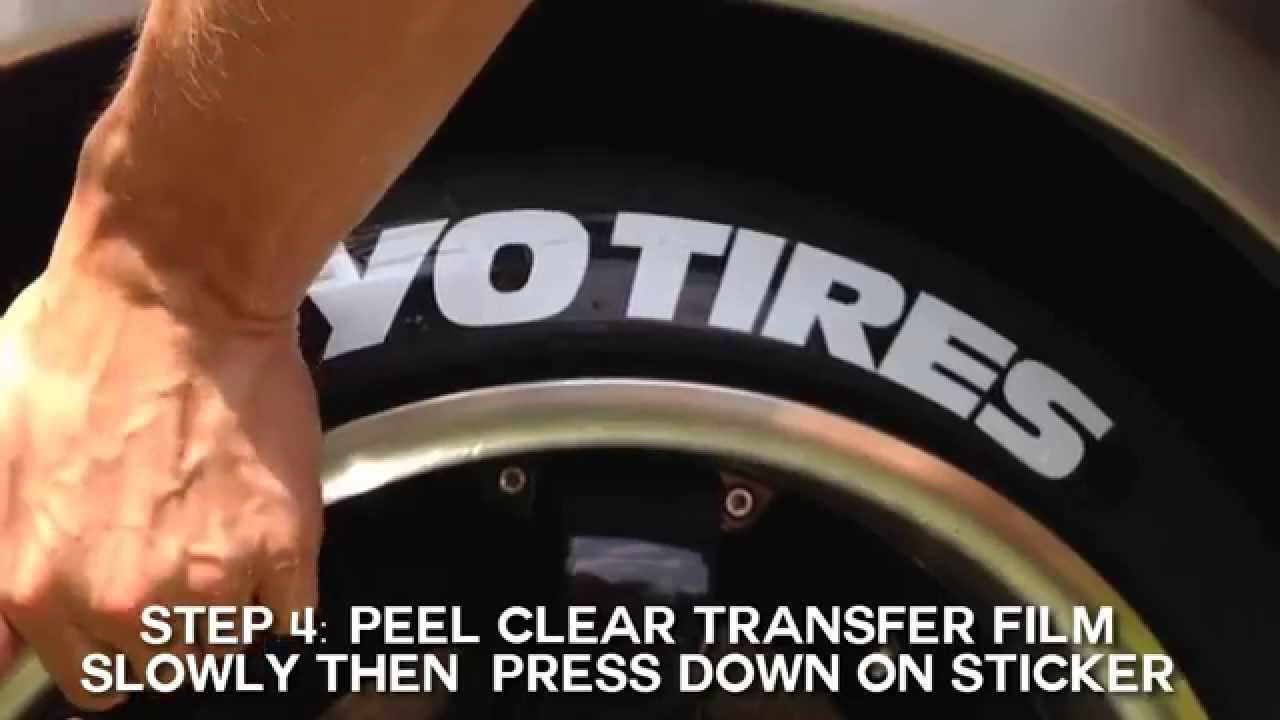 Toyo tires peel stick tire stickers diy application guide youtube