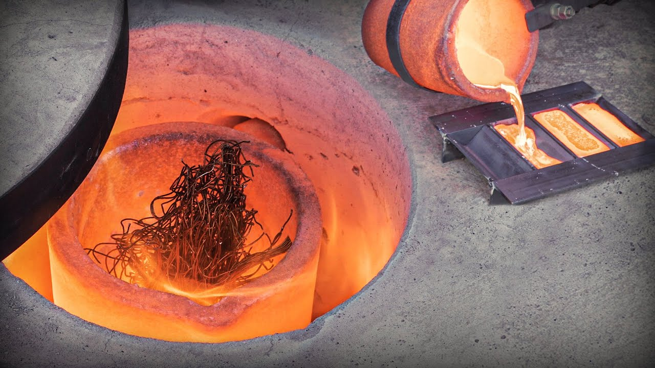 Recover Bar Stock From Motor Windings: Copper Cast And FORGING!