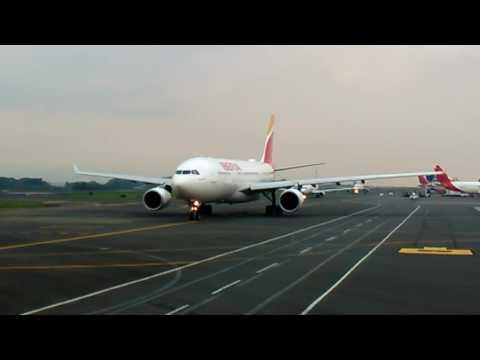 Engine Power Iberia Airbus Takeoff CostaRica #halamadrid