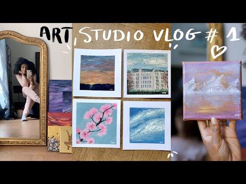 My Etsy Shop is Back + Painting New Original Artwork on paper – Art Studio Vlog #1