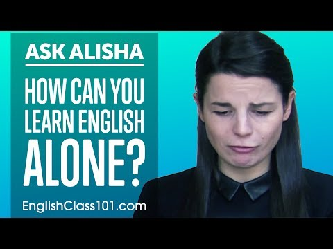 How Can You Learn English Alone? Self-Study Plan! Ask Alisha