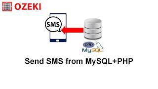 Send SMS from MySQL+PHP