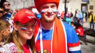 Opening Day of the World Cup Russia 2018 - Happy fans celebrate in Moscow