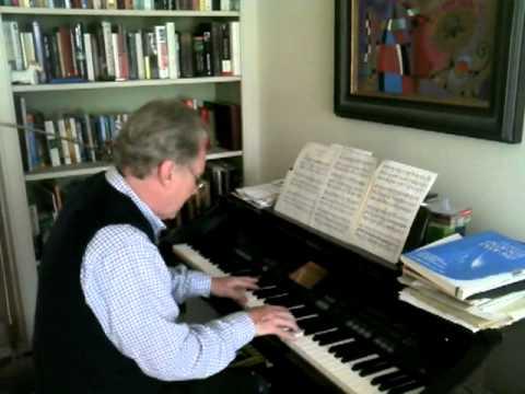 John Myatt on the piano