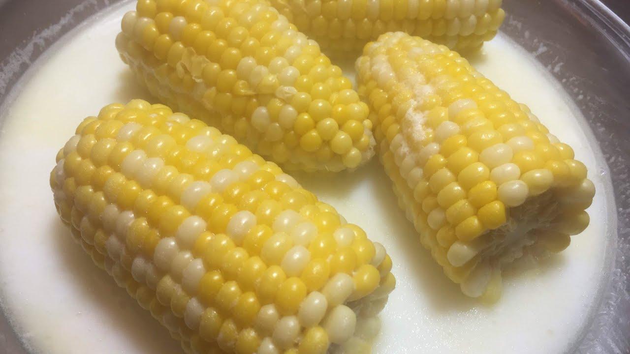 طريقة عمل الذرة المسلوقة في اللبن والزبدة Sweet Corn للشيف ايمن حسن Youtube