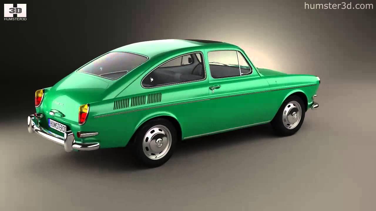 volkswagen type 3 1600 fastback 1965 by 3d model store youtube. Black Bedroom Furniture Sets. Home Design Ideas