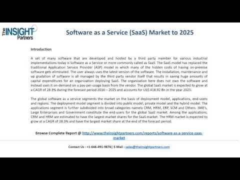 Global Software as a Service Market News, Opportunities and Growth Report 2025