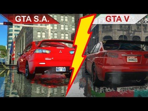 MODDED GTA San Andreas Vs. GTA V   RTX 2070