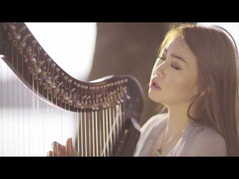 Damai Bersama-Mu - Chrisye (Vocal & Harp Cover by Angela July feat. Cindy Clementine)