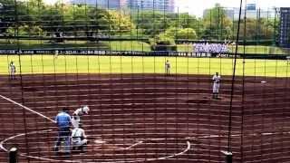 春季兵庫大会 明商vs報徳戦 先発小野投手→松本投手.