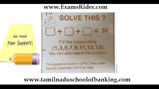 UPSC final exam question, IBPS Reasoning Ability And Number Series Part-19