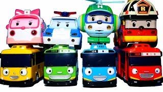 로보카폴리 만들기 타요 만들기 블럭 장난감  Tayo Little the bus Robocar Poli Car Toys Робокар Поли  Тайо Игрушки