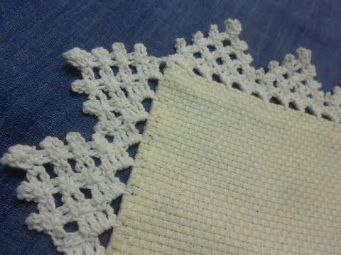 Orilla 10 triangulos crochet facil en una sola vuelta - Hacer puntillas de ganchillo ...