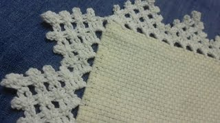 Repeat youtube video Orilla # 10 Triangulos Crochet facil en una sola vuelta