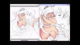 ♥Romeo and Juliet AarMau Speed paint Part 1♥