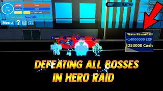 [NEW CODE] SHOWCASING / DEFEATING ALL HERO RAID BOSSES | Boku No Roblox Remastered [SHOWCASE]