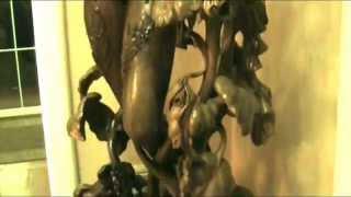 скульптура дерево   в интерьєре коллекционера