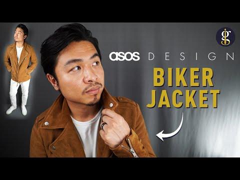 ASOS DESIGN SUEDE BIKER JACKET Review in Tan (Best Leather Jacket Series)