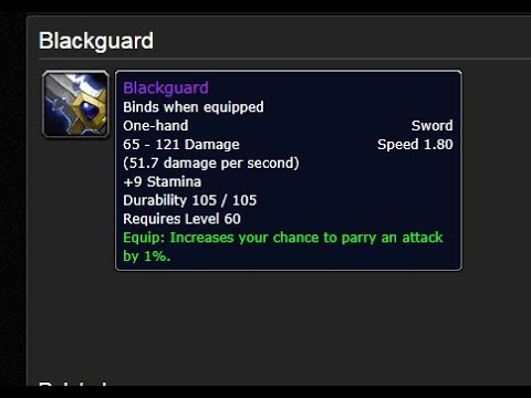 Blackguard: Is it worth crafting in Wow Classic? |