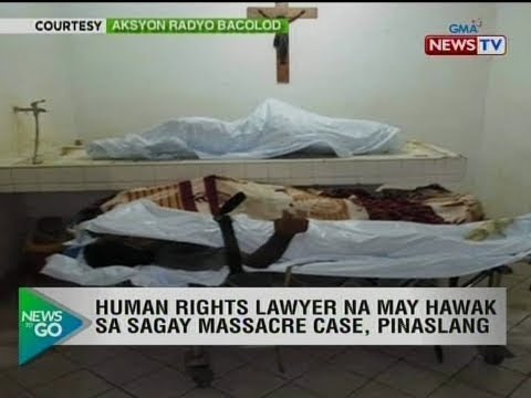 NTG: Human rights lawyer na may hawak sa Sagay massacre case, pinaslang