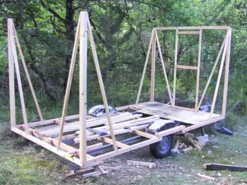 Construire une roulotte en 31 images youtube - Fabriquer sa bibliotheque en bois ...