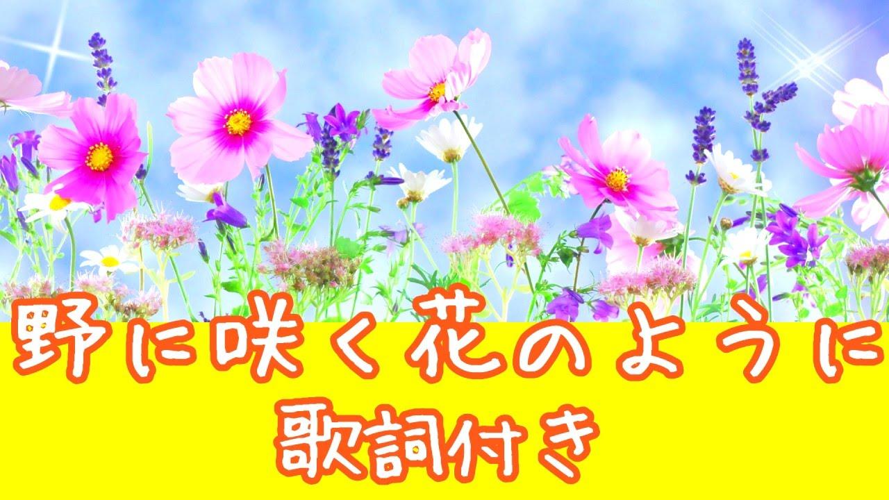 野 に 咲く 花 の よう に コード