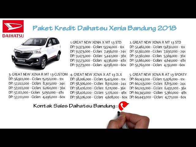 Kredit Daihatsu Xenia Bandung DP dan Cicilan Oktober 2018 | 082127725181